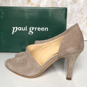 Paul Green Rosewood Taupe Suede Pumps